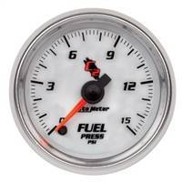 Gauges And Pods - Gauges - Auto Meter - Autometer C2 Fuel Pressure 15psi