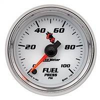 Gauges And Pods - Gauges - Auto Meter - Autometer C2 Fuel Pressure 100psi