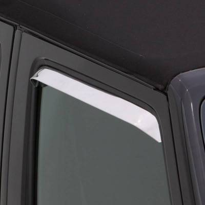 Exterior Accessories - Window Deflectors/Bug Shields - Auto Ventshade (AVS) - Auto Ventshade (AVS) AVS - VENTSHADE - 2PC STAINLESS 12031