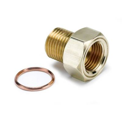 Gauges And Pods - Gauges - Auto Meter - Auto Meter Fitting; Adapter; M16x1.5 Male; Brass; for Mech. Temp. Gauge 2275