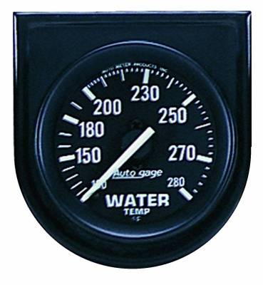Engine Parts - Cooling System - Auto Meter - Auto Meter Gauge Console; Water Temp; 2in.; 280deg. F; Blk Dial; Blk Bezel; AutoGage 2333