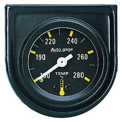 Engine Parts - Cooling System - Auto Meter - Auto Meter Gauge Console; Water Temp; 1.5in.; 280deg. F; Mech; Blk Dial; Blk Bezel; AutoGag 2352