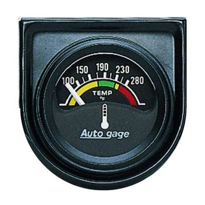 Engine Parts - Cooling System - Auto Meter - Auto Meter Gauge Console; Water Temp; 1.5in.; 280deg. F; Elec; Blk Dial; Blk Bezel; AutoGag 2355