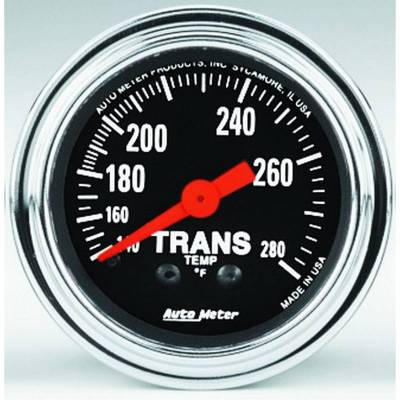 Transmission - Transmission Overhaul Kits And Parts - Auto Meter - Auto Meter Gauge; Trans Temp; 2 1/16in.; 140-280deg. F; Mechanical; 8ft.; Traditional Chrom 2451