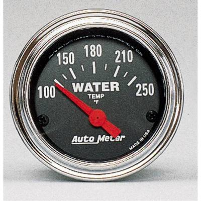 Engine Parts - Cooling System - Auto Meter - Auto Meter Gauge; Water Temp; 2 1/16in.; 100-250deg. F; Electric; Traditional Chrome 2532