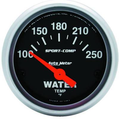 Engine Parts - Cooling System - Auto Meter - Auto Meter Gauge; Water Temp; 2 1/16in.; 100-250deg. F; Electric; Sport-Comp 3337