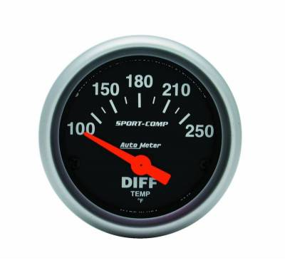 Gauges And Pods - Auto Meter - Auto Meter Gauge; Differential Temp; 2 1/16in.; 100-250deg. F; Electric; Sport-Comp 3349