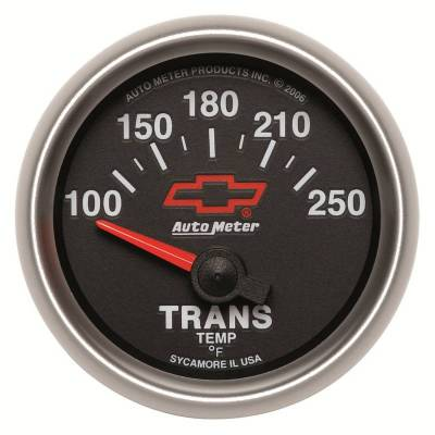 Transmission - Transmission Overhaul Kits And Parts - Auto Meter - Auto Meter Gauge; Transmission Temp; 2 1/16in.; 100-250deg. F; Electric; GM Bowtie Black 3649-00406