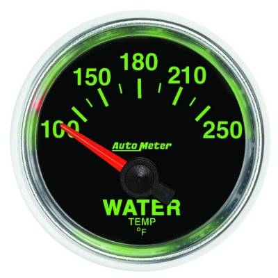Engine Parts - Cooling System - Auto Meter - Auto Meter Gauge; Water Temp; 2 1/16in.; 100-250deg. F; Electric; GS 3837