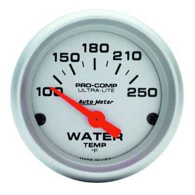 Engine Parts - Cooling System - Auto Meter - Auto Meter Gauge; Water Temp; 2 1/16in.; 100-250deg. F; Electric; Ultra-Lite 4337