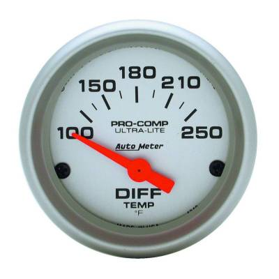 Gauges And Pods - Auto Meter - Auto Meter Gauge; Differential Temp; 2 1/16in.; 100-250deg. F; Electric; Ultra-Lite 4349
