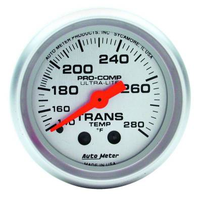 Transmission - Transmission Overhaul Kits And Parts - Auto Meter - Auto Meter Gauge; Trans Temp; 2 1/16in.; 140-280deg. F; Mechanical; 8ft.; Ultra-Lite 4351