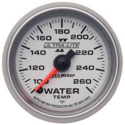 Engine Parts - Cooling System - Auto Meter - Auto Meter Gauge; Water Temp; 2 1/16in.; 100-260deg. F; Digital Stepper Motor; Ultra-Lite I 4955