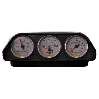 Gauges And Pods - Pods - Auto Meter - Auto Meter Gauge Mount; Universal Dash Top; Triple; 2 1/16in.; Black 5288