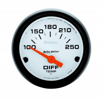 Gauges And Pods - Auto Meter - Auto Meter Gauge; Differential Temp; 2 1/16in.; 100-250deg. F; Electric; Phantom 5749
