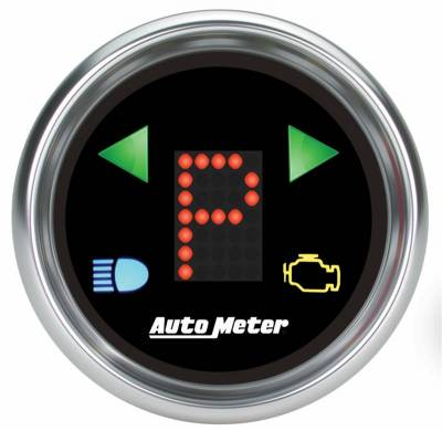Transmission - Transmission Overhaul Kits And Parts - Auto Meter - Auto Meter Gauge; Gear Pos; 2 1/16in.; incl indicators; Black Dial; Blue LED; Bright Super 6150