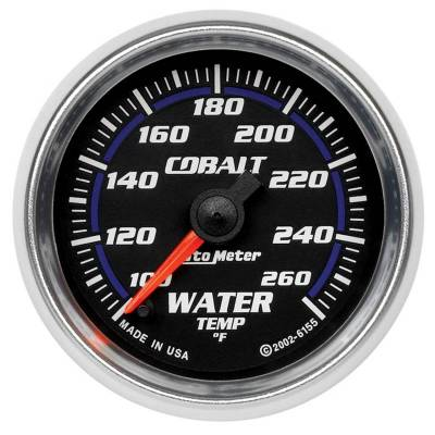 Engine Parts - Cooling System - Auto Meter - Auto Meter Gauge; Water Temp; 2 1/16in.; 100-260deg. F; Digital Stepper Motor; Cobalt 6155
