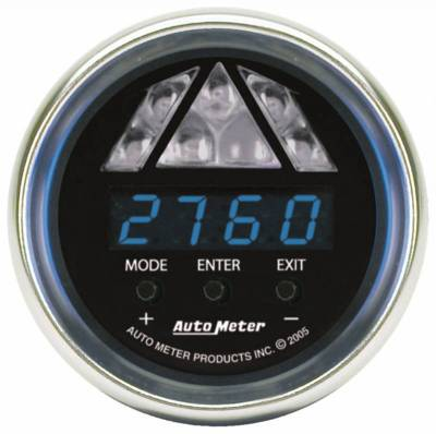 Lighting - Auto Meter - Auto Meter Gauge; Shift Light; Digital RPM w/Blue LED Light; DPSS Level 1; Cobalt 6187