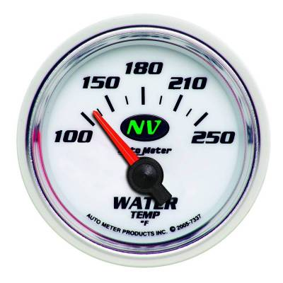 Engine Parts - Cooling System - Auto Meter - Auto Meter Gauge; Water Temp; 2 1/16in.; 100-250deg. F; Electric; NV 7337