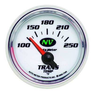 Transmission - Transmission Overhaul Kits And Parts - Auto Meter - Auto Meter Gauge; Transmission Temp; 2 1/16in.; 100-250deg. F; Electric; NV 7349