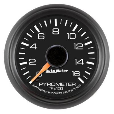 Gauges And Pods - Gauges - Auto Meter - Auto Meter Gauge; Pyrometer (EGT); 2 1/16in.; 1600deg. F; Stepper Motor; GM Factory Match 8344