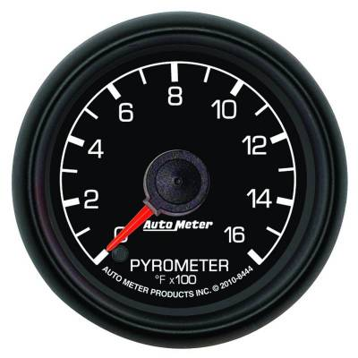 Gauges And Pods - Gauges - Auto Meter - Auto Meter Gauge; Pyrometer (EGT); 2 1/16in.; 1600deg. F; Stepper Motor; Ford Factory Match 8444