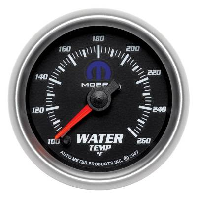 Engine Parts - Cooling System - Auto Meter - Auto Meter Gauge; Water Temp; 2 1/16in.; 100-250deg. F; Electric; Black; Mopar 880016
