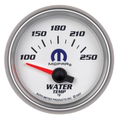 Engine Parts - Cooling System - Auto Meter - Auto Meter Gauge; Water Temp; 2 1/16in.; 100-250deg. F; Electric; White; Mopar 880030