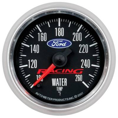 Engine Parts - Cooling System - Auto Meter - Auto Meter Gauge; Water Temp; 2 1/16in.; 100-260deg. F; Digital Stepper Motor; Ford Racing 880086