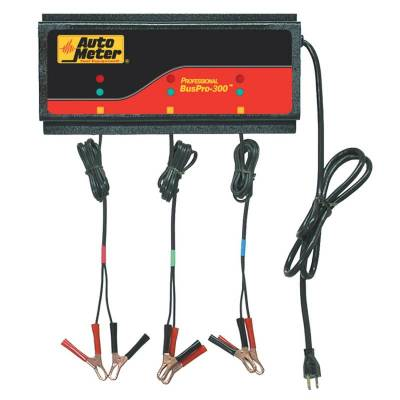 Battery - Chargers - Auto Meter - Auto Meter 3 Station Automated Battery Charger; 5 Amps per Station; 115V BUSPRO-300