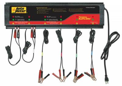 Battery - Chargers - Auto Meter - Auto Meter 6 Station Automated Battery Charger; 5 Amps per Station; 115V BUSPRO-600S