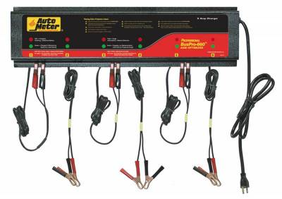 Battery - Chargers - Auto Meter - Auto Meter 6 Station Automated Battery Charger; 5 Amps per Station; 115V AGM BUSPRO-660