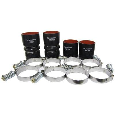 Intercoolers And Piping - Piping - BD Diesel - BD Diesel Intercooler Hose & Clamp Kit - 2008-2010 Ford 6.4L Powerstroke 1047037