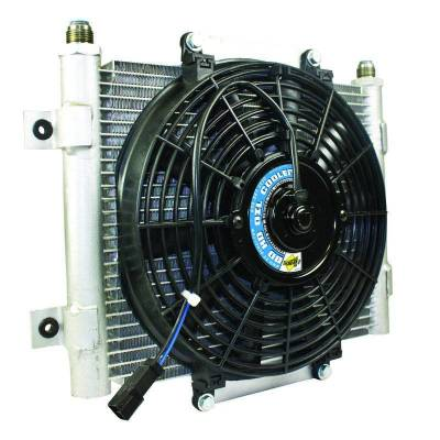 Transmission - Transmission Coolers And Lines - BD Diesel - BD Diesel Xtrude Core Heavy Duty Trans Cooler w/Fan & -10 JIC Male Connection 1300611