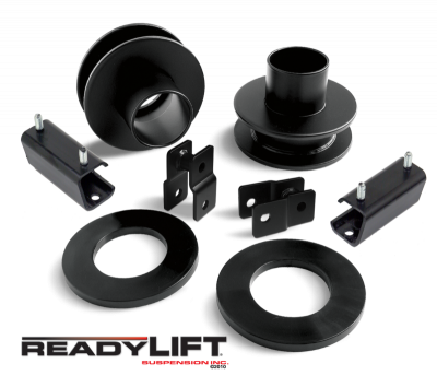 ReadyLift - ReadyLift 2.5in. FRONT COIL SPACER KIT WITH SWAY BAR EXTENSIONS AND POLY SOUND ISOLATORS 66-2011