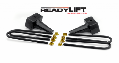 Steering And Suspension - Lift Kits/Leveling Kits - ReadyLift - ReadyLift 4in. TALL OEM STYLE REAR LIFT BLOCKS WITH BUMP STOP LANDING 66-2014