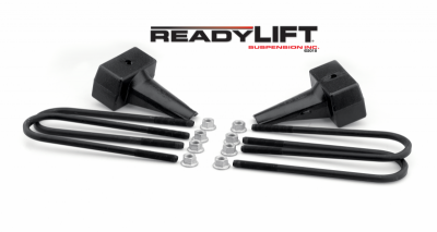 Steering And Suspension - Lift Kits/Leveling Kits - ReadyLift - ReadyLift 5in. TALL OEM STYLE REAR LIFT BLOCKS WITH BUMP STOP LANDING 66-2015