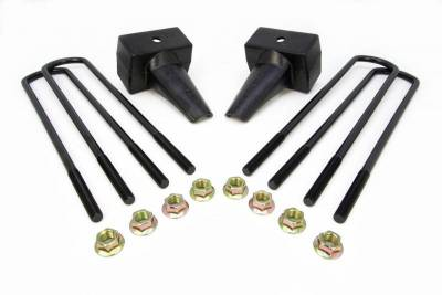 Steering And Suspension - Lift Kits/Leveling Kits - ReadyLift - ReadyLift 4in. REAR LIFT BLOCKS WITH BUMP STOP LANDING FOR DUAL REAR WHEEL VEHICLES 66-2024