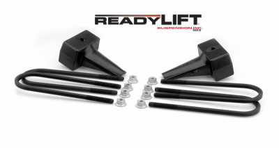 Steering And Suspension - Lift Kits/Leveling Kits - ReadyLift - ReadyLift 4.0in. TALL OEM STYLE REAR LIFT BLOCK KIT 66-2094