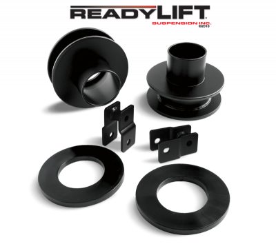 Steering And Suspension - Lift Kits/Leveling Kits - ReadyLift - ReadyLift 2.5in. FRONT COIL SPACER KIT WITH POLY SOUND ISOLATOR RINGS AND SHOCK EXTENSIONS 66-2095