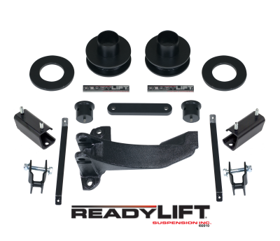 ReadyLift - ReadyLift 2.5in. FRONT COIL SPACER LEVELING KIT WITH TRACK BAR RELOCATION BRACKET 66-2511
