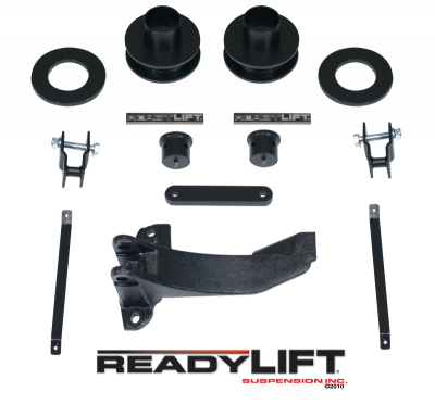 Steering And Suspension - Lift Kits/Leveling Kits - ReadyLift - ReadyLift 2.5in. FRONT COIL SPACER LEVELING KIT WITH TRACK BAR RELOCATION BRACKET 66-2516