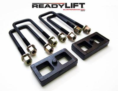 Steering And Suspension - Lift Kits/Leveling Kits - ReadyLift - ReadyLift 1.0in. TALL OEM STYLE REAR LIFT BLOCK KIT WITH U-BOLTS 66-3051