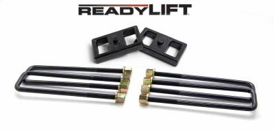 ReadyLift - ReadyLift 1.0in. TALL OEM STYLE REAR LIFT BLOCK KIT WITH U-BOLTS 66-3111