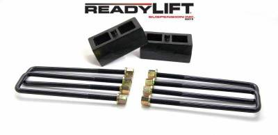 ReadyLift - ReadyLift 2.0in. TALL OEM STYLE REAR LIFT BLOCK KIT WITH U-BOLTS 66-3112