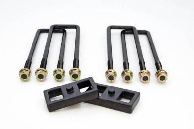 ReadyLift - ReadyLift 1.0in. TALL OEM STYLE REAR LIFT BLOCK KIT WITH U-BOLTS 66-3121