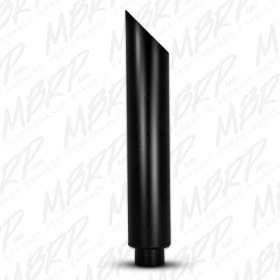"MBRP - MBRP Exhaust 1 pc Stack 6"" Angle Cut 36"" Black Coated B1610BLK"