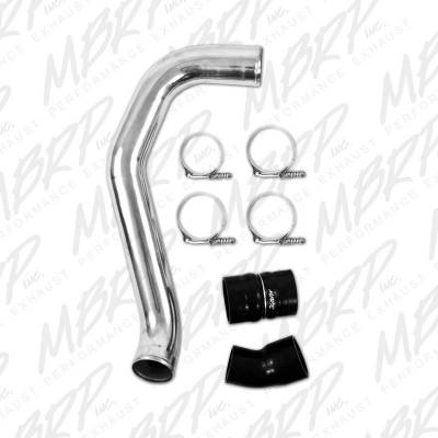 "Intercoolers And Piping - Piping - MBRP - MBRP Exhaust 3"" Passenger Side Intercooler Pipe, polished aluminum IC1974"