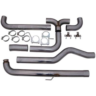 """MBRP - MBRP Exhaust 4"""" Down Pipe Back Dual SMOKERS (incl. front pipe), T409 S8000409 - Image 1"""