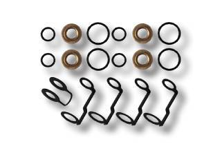 Fuel System - Injector Lines And Replacement Parts - Fleece Performance - Fleece Performance LB7 Duramax Injector Tip Seal, O-ring, and Return Line Gasket Kit FPE-LB7-SEAL-KIT